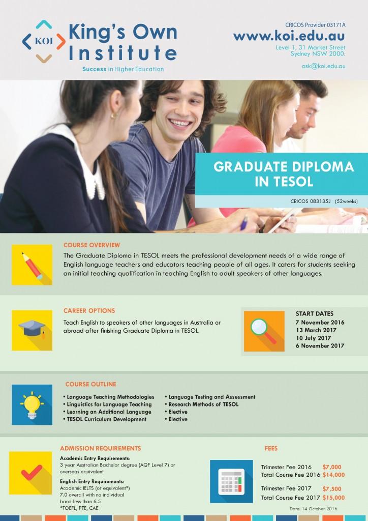 Graduate Diploma in TESOL