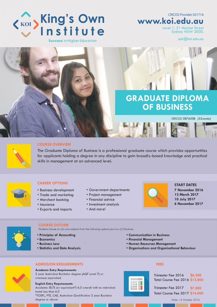 Graduate Diploma of Business