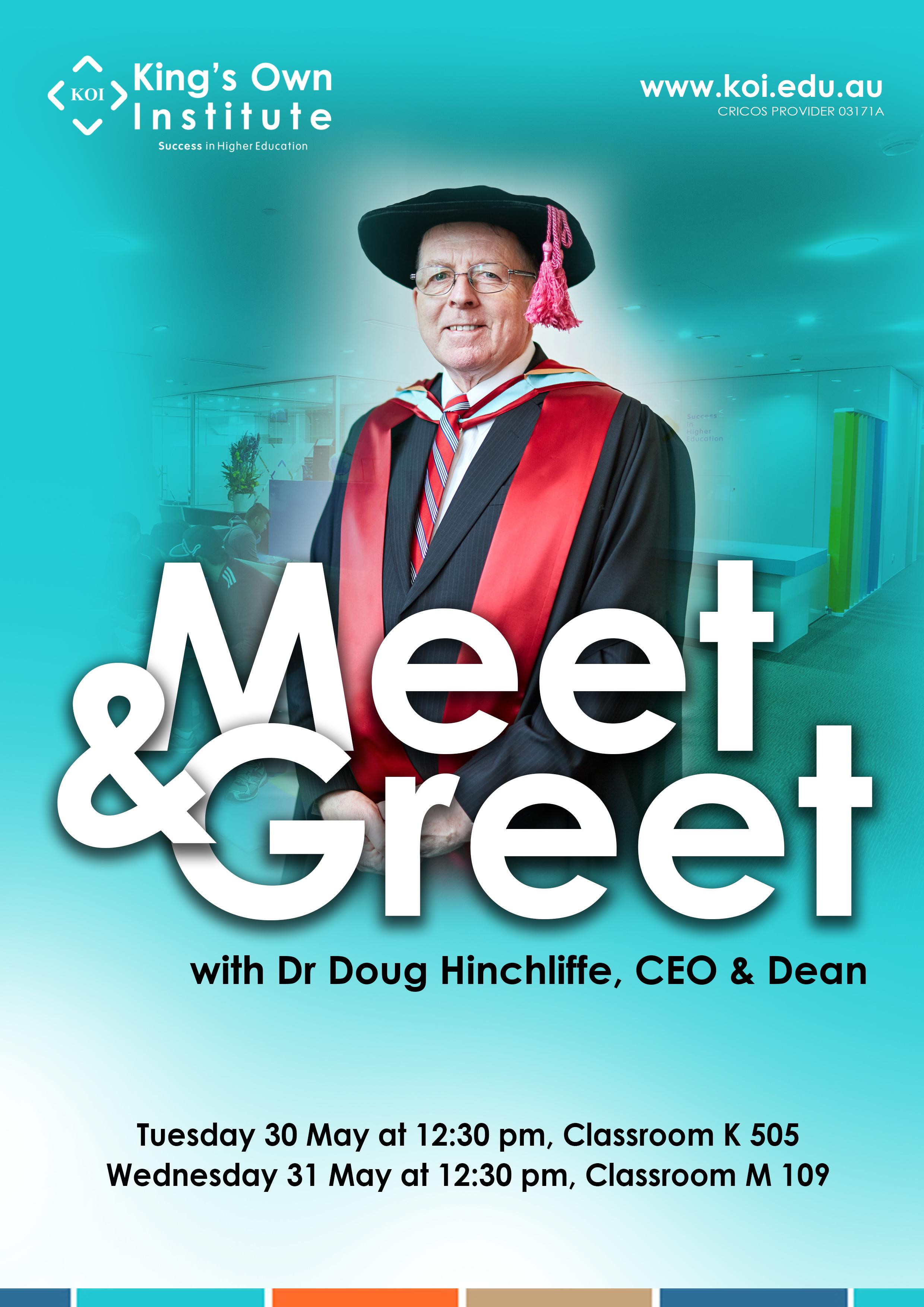 Koi Meet And Greet With Dr Doug Hinchliffe Ceo Dean