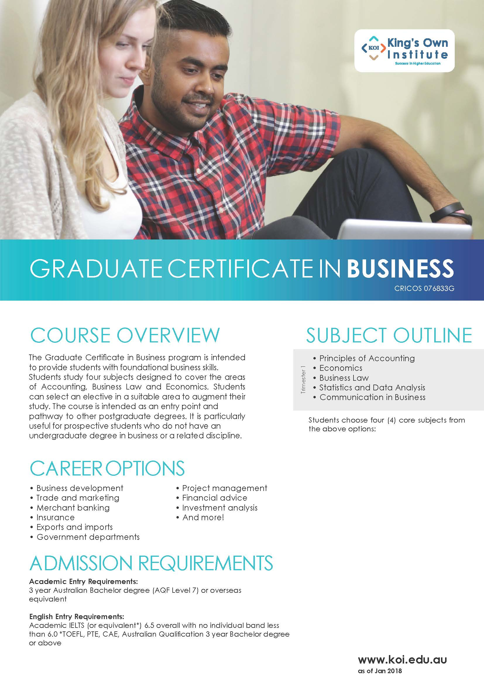 GRADUATE CERTIFICATE IN BUSINESS